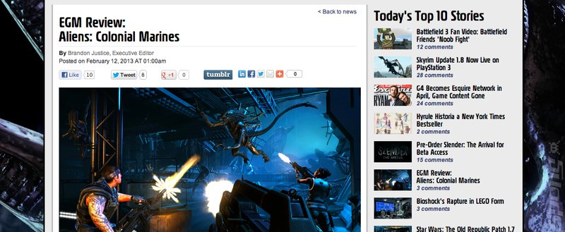 Aliens: Colonial Marines Reviews Are In - Someone Really Likes It